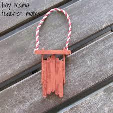 boy popsicle stick sleds boy