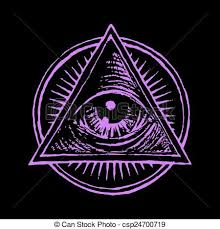 all seeing eye line drawing search
