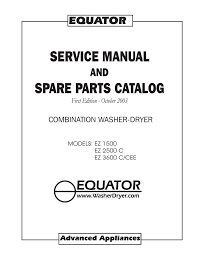 equator ez3600cee service manual