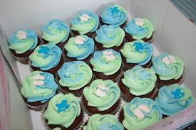 photo baby shower cupcakes for image