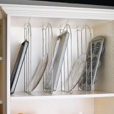 Diy Kitchen Cabinet Organizers by Kitchen Cabinet Organizers Shelf Tray Divider With Clip