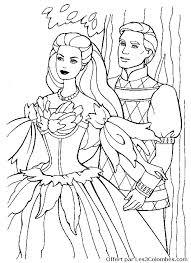 dessin barbie princesse noel