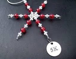 5k round pewter charm ornament 5k runner christmas ornament