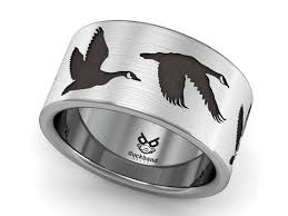 Duck Band Wedding Rings by Flying Goose Ring Duck Band Rings From Southern Illinois