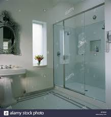Walk In Shower Doors Glass by Glass Wall And Door To Walk In Shower Cabinet In Modern White