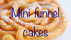 mini funnel cake siarra marissa youtube