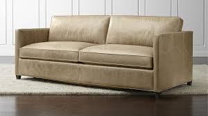 sleeper sofa leather sleeper sofa leather dryden leather sleeper sofa crate