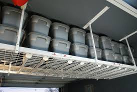 Garage Ceiling Storage Systems by Love The All Grey With White Touch Look This Rack Is Also Great