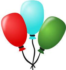 palloncini clipart disegno di tre palloncini legati insieme con una stringa