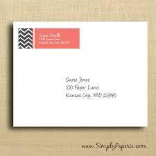 grey chevron return address labels simply paperie