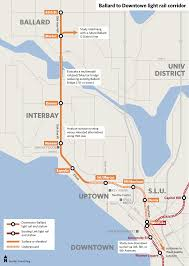 Seattle Map Downtown by Fast Train To Ballard