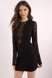 black lace dress dress lace bodycon dress sleeve black dress 33