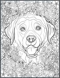 detailed dogs complicated canine coloring book complicated