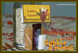thanksgiving crafts gobble smores free printable