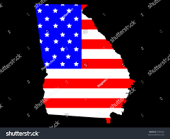 State Flag Georgia Map State Georgia American Flag Jpg Stock Illustration 5795626
