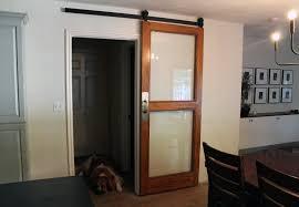 modern barn doors with glass barn decorations