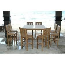 Bar Height Patio Furniture Sets Amazon Com Windsor 9 Piece Bar Height Dining Set Outdoor And