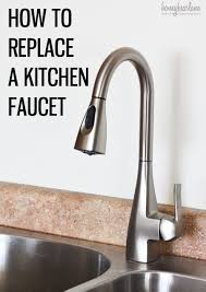 silver replacing a kitchen faucet wide spread single handle pull