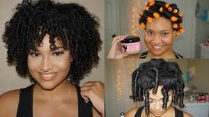black rod hairstyles for 2015 perm rod set tutorial on natural hair easy soft curls
