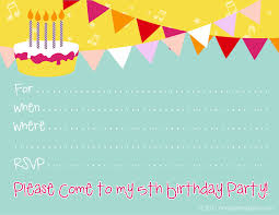 birthday party invitations printable cimvitation