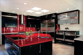 Red Mahogany Kitchen Cabinets Best Granite On Top Pure Granite Countertops Color Schemes For