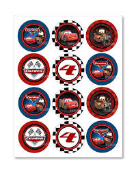 cars cake toppers personalized disney cars cupcake toppers by theprintshoppeonetsy