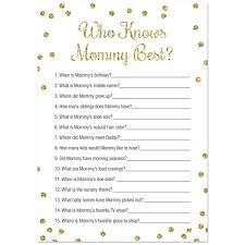 baby shower question who knows best baby shower 24 count