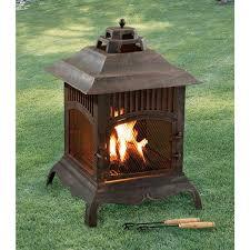pagoda cast iron chiminea 80637 fire pits u0026 patio heaters at