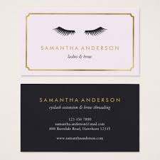 eyelash extension brow beautician business cards zazzle