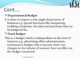 f u0026b budgeting