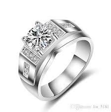 cheap diamonds rings images 1 25ct white gold plated big white stone rings for men cz diamond jpg