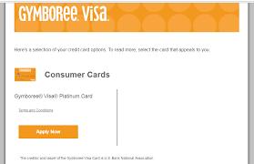 gymboree visa credit card online application
