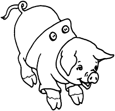 pig coloring pages sun flower pages