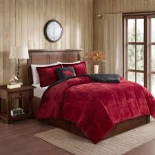 Red And Black Comforter Sets Full Buy Ultra Plush Comforters From Bed Bath U0026 Beyond