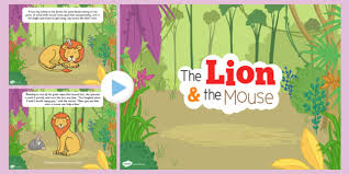 lion mouse powerpoint powerpoint fable lion
