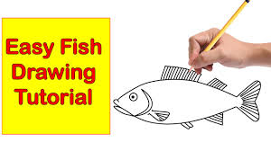 fish drawing easy tutorial how to draw a fish step by step for