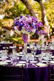 Tall Table Centerpieces by Purple Wedding Theme Elegant Tall Purple Centerpiece Jpg All