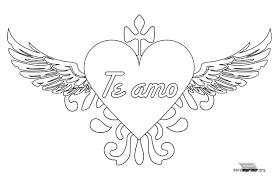 imagenes bonitas de te amo para dibujar 74 corazones de amor para pintar imprimir descargar y regalar