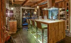 cuisine montagne décoration intérieur chalet montagne 50 idées inspirantes