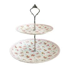 two tier cake stand blossom cottage two tier cake stand sprinkie