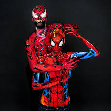lapse video artist kay pike painting spider man costume