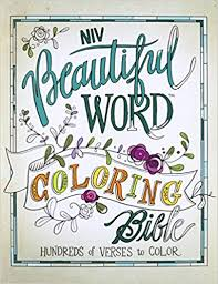 niv beautiful word coloring bible hardcover hundreds verses