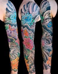 flowers japanese sleeve to the needle