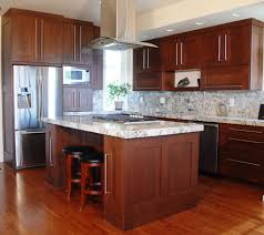 discount solid wood cabinets cherry wood cabinets with white granite counters and white island
