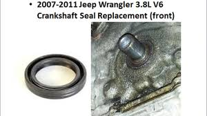 2007 2011 jeep wrangler jk 3 8l crankshaft seal removal and