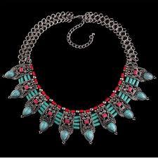 ethnic necklace images Ethnic handmade turquoise necklace azzurro mare jpg