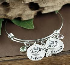 Personalized Bangle Bracelet Mom Charm Personalized Bangle Bracelet At Sweet Blossom Gifts