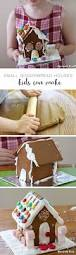 small gingerbread houses that kids can make the craft train