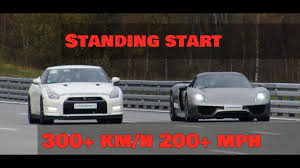 Porsche 918 Torque - drag race nissan gtr alpha 12 vs porsche 918 spyder 300 km h 200
