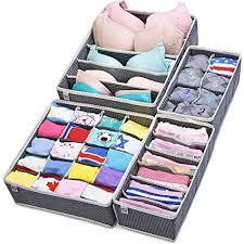 underwear organizer amazon com closet underwear organizer drawer divider 4 set by